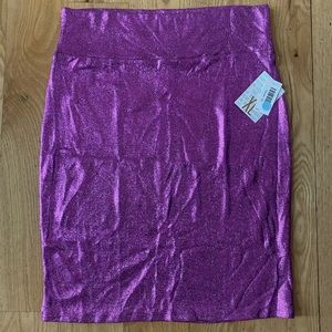 LulaRoe 2XL Elegant Cassie Metallic Purple